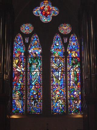 Choir gallery windows