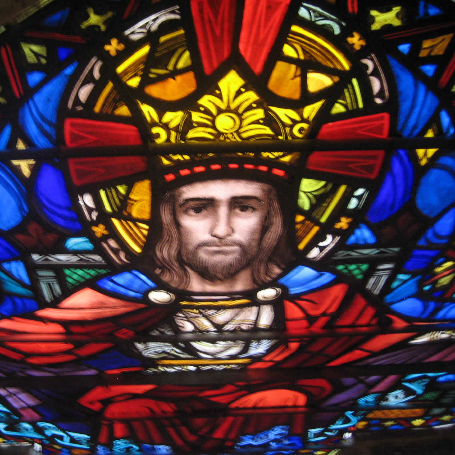 Christus Rex in Stained Glass