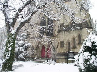Facade in the snow