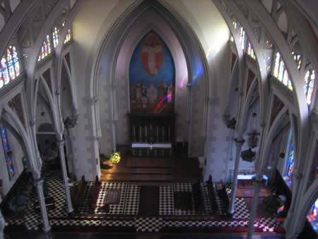Choir and altar from above